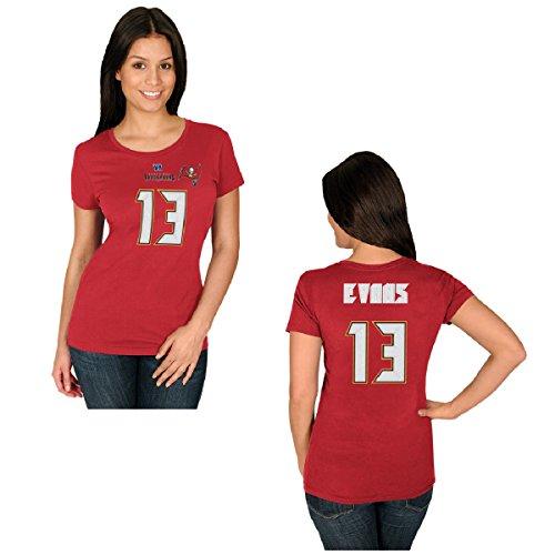 Majestic Athletic NFL Football Tampa Bay Buccaneers Mike Evans #13 T-Shirt Trikot Damen Women (L)