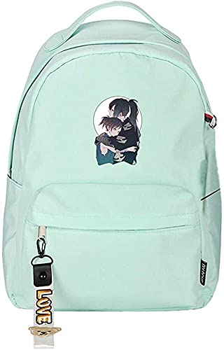 Mochilas para la Escuela Teen Boys Anime Dororo Mujer Pink Daypack Nylon School Bolsas para Las niñas de Adolescentes Linda Bookbag Kawaii Mochila de Viaje Mochila de Dibujos Animados (Color : 11)