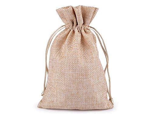 2pc Natürliche Mittel Jute-Imitation-Geschenk-Tasche 11x17cm, Taschen Kordelzug, Taschen Benutzerdefinierte, Taschen Canvas, Taschen Geburtstag, Und Taschen, Handwerk & Hobbies