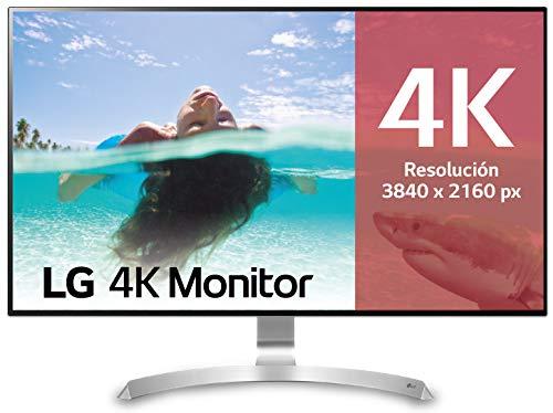 "LG 32UD99-W - Monitor 4K UHD de 80 cm (31,5"") con Panel IPS (3840 x 2160 píxeles, 16:9, 350 cd/m², DCI-P3 >95%, 1300:1, 5 ms, 60 Hz) Color Plata y Blanco"