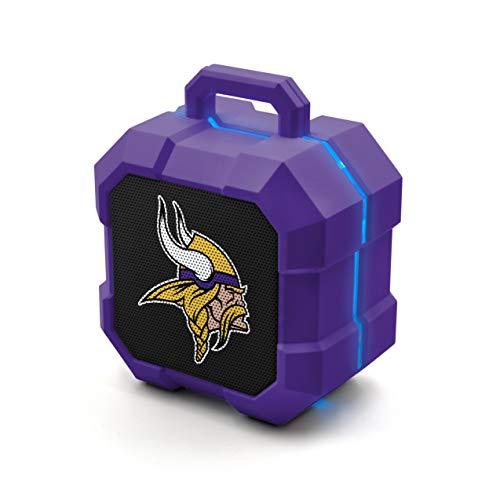 NFL Minnesota Vikings Shockbox LED Wireless Bluetooth Speaker, Team Color