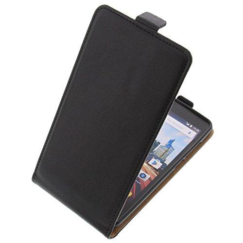 foto-kontor Tasche für Archos 50f Helium Smartphone Flipstyle Schutz Hülle schwarz