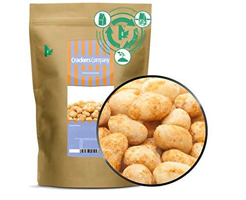 1 x 500g Erdnüsse trocken ohne Öl geröstet gesalzen vegan laktosefrei 24 % Protein aromatisch nussig intensiv im Geschmack