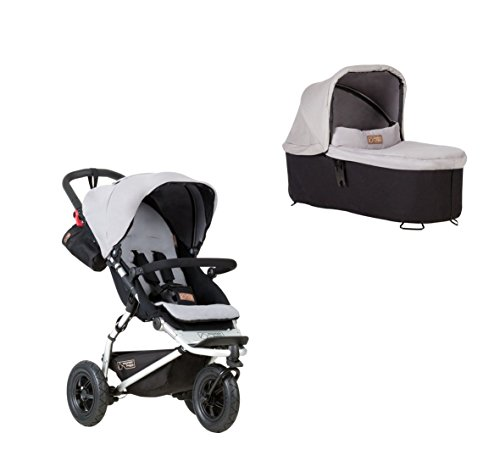Mountain Buggy Swift 3 + Carrycot plus nacelle Argenté