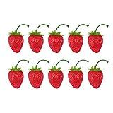 VOSAREA 30Pcs Fragole Artificiali Finte Fragole Artificiali Puntelli Ornamenti di Frutta p...