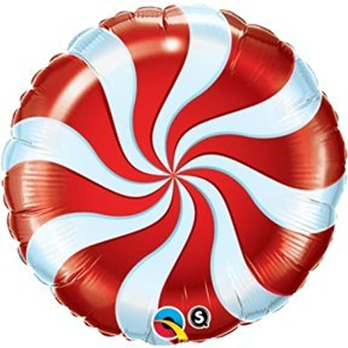 Candy Swirl rot 18 Round Balloon by Tristan's