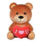 Oso de Peluche - Juguetes Rellenos Amante Regalos | con corazón Rojo Te Amo Regalo | Para Niñas y Mujer Cumpleaños Día de La Madre Día de San Valentín Navidad (28cm)