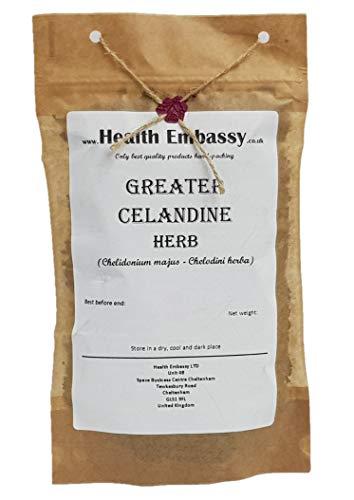 Schöllkraut (Chelidonium majus - Chelodini herba) 100g / Greater Celandine Herb 100g - Health Embassy - 100% Natural
