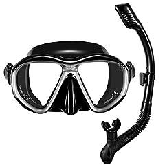 OMORC Snorkel Set Vuxen Anti-Fog Svart