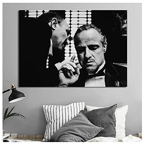 arlon Brando Ojciec Chrzestny plakaty filmowe i nadruki sztuka ścienna obraz na płótnie obrazy do salonu dekoracja domu nadruk na płótnie (60 x 80 cm) - 24 x 32 w Bez ramki