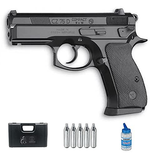 Pistola de Airsoft cz 75D Compact CO2 (6mm) | Arma Corta de Airsoft semiautomática ASG