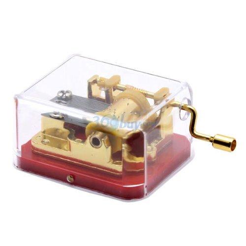 laxxury plástico caja de música con la el viaje de Chihiro, Movimiento de oro, color rojo
