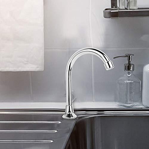 Jingyig Grifo de Cobre G1 / 2', Grifo de Agua, Revestimiento de Espejo de PVD para baño de Laboratorio para baño de Hospital