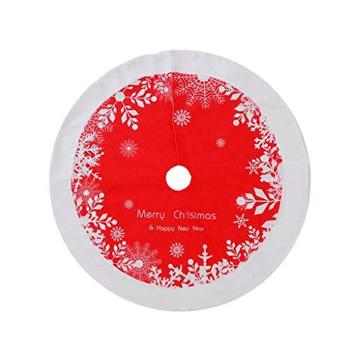 Mamimami Home 1pc Baumrock Christbaumdecke Weihnachtsbaumdecke Rund Weihnachtsbaum Unterlage Christbaumdecke Groß Weihnachtsbaumdecke Rot Weihnachtsdecken