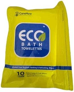 Eco Bath Towelettes Antiseptic Adult Bathing 10 Wipes - Extra Large