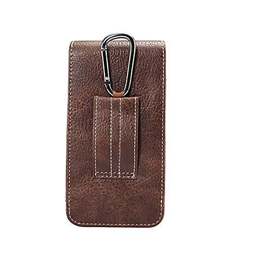 TEHWDE Borsa Clip Cintura per Smartphone,5.5  Universale Borsello da Uomo Sacchetto PU Pelle Belt Pouch Verticale Pelle per iPhone 6 7 8 Plus Samsung S7 S6 S5 Huawei P8 P9