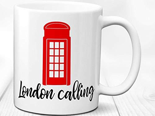 N\A Taza de la Ciudad de Londres/Taza de teléfono roja de Londres/café de la Ciudad de Londres/Taza para Amante de Londres/Taza de Regalo de Londres/Taza de Londres Llamando Taza de Coffee Taza