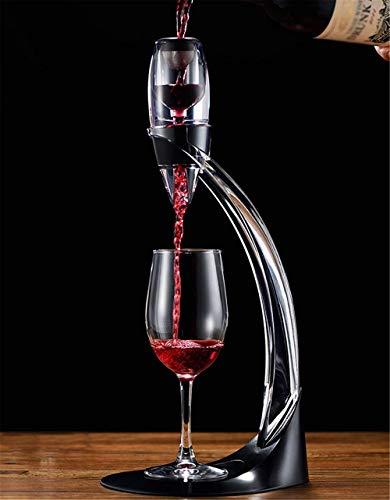 Scultura,Set Di Versatori per Aeratore per Vino Supporto per Aeratore per Vino Rosso Fast Deluxe per Ossigenare E Decantare Il Vino con Tramoggia E Filtro In Confezione Regalo