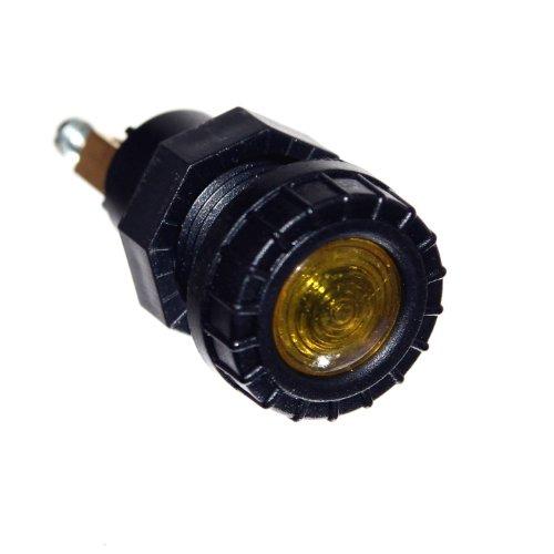 1x Anzeige Leuchte GELB 12V Neu Einbau 17mm Loch Kontroll Lampe Beleuchtung Traktor Old-Harvest