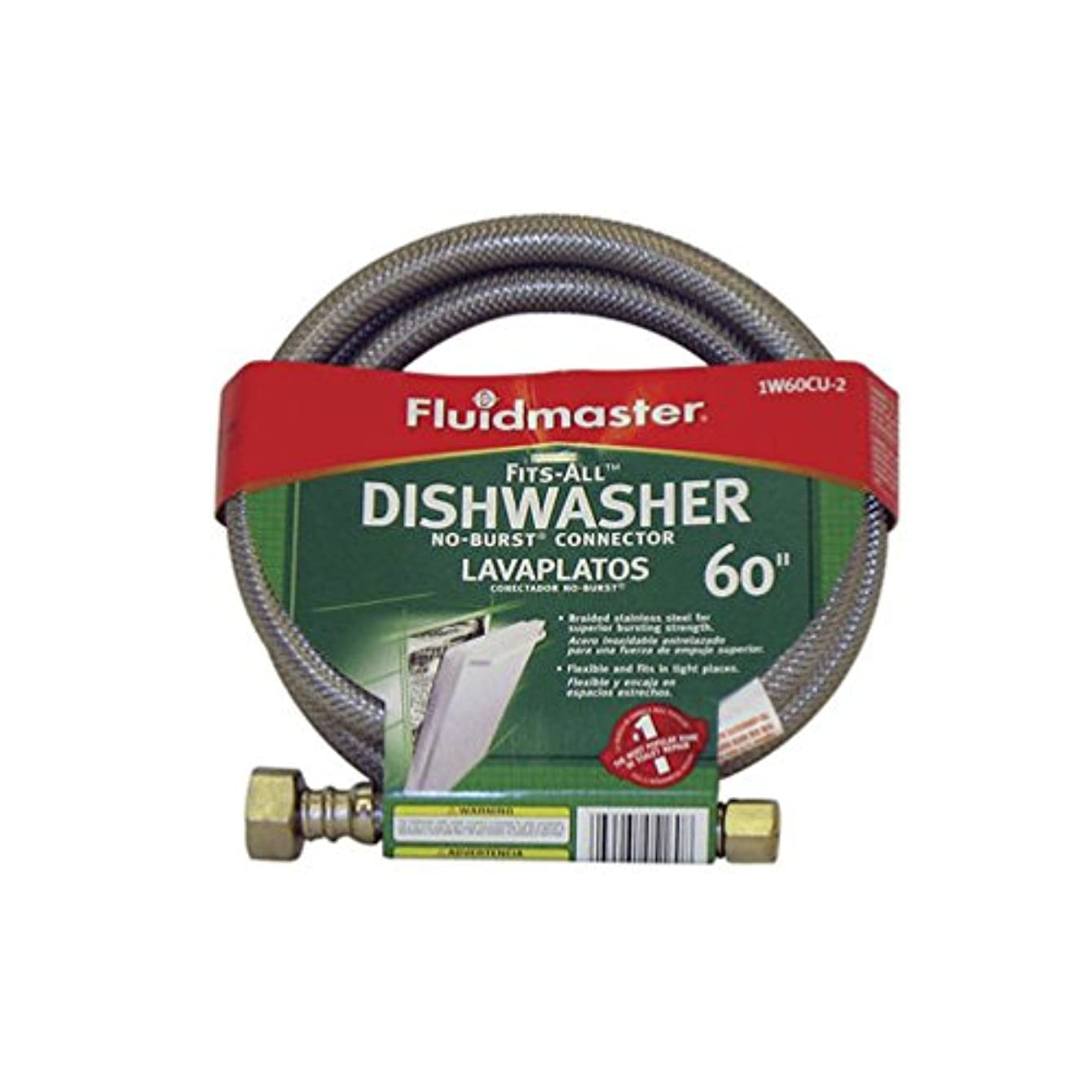 Fluidmaster 1W60CU No-Burst Fits-All Dishwasher Connector California Models