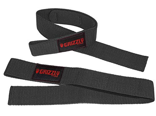 Grizzly Fitness 1.5' Padded Cotton Weight Lifting Straps for Men & Women | One-Size Pair