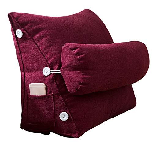 Rückenkissen Bett/sofa Bettruhe Kissen Bücherkissen Für Bett Abnehmbares Waschbares Taillenkissen Zum Entspannen Und Fernsehen - 45 X 25 X 50 Cm