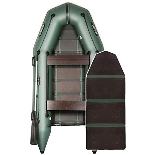 BARK Profi Schlauchboot für Motor BT-270 (2,7m) BT-290 (2,9m) BT-310 (3,1m) BT-330(3,3m) Schwerlast Paddelboot Angelboot Motorboot Elektromotor fünfschichtig PVC (2.7m, Festenboden (BT-270), Grün)