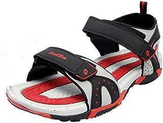 Lotto Men's Black/Red Sandals-9 UK/India (43 EU) (AS4887-060)