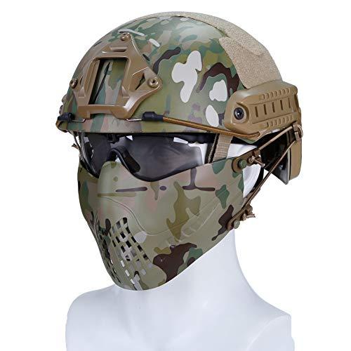 haoYK Casco Deportivo Multiusos Protector táctico Casco Airsoft Paintball MH Tipo rápido...