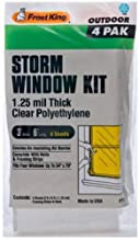 Frost King P714H Economy Outdoor Plastic Storm Window Kits 3 6-Foot by 1.25-Millimeters