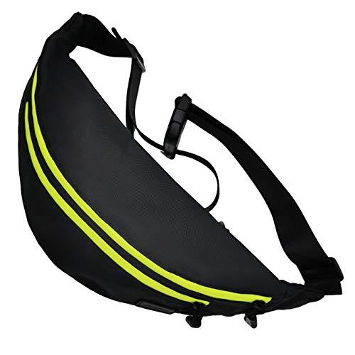 Aucase Bum Riñonera de nailon repelente al agua de gran capacidad y antirrobo para deportes al aire libre, bolsa de cadera para todas las personas