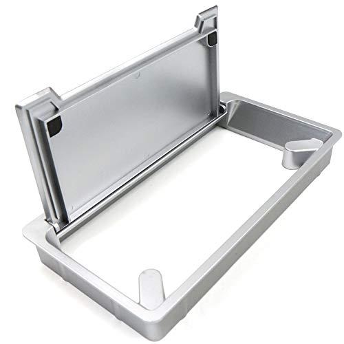 Pasacables Ojal de Escritorio inserto de plástico rectangular de 116 x 225 mm, para muebles, escritorio, oficina, junta de cepillo, placa de trabajo de cocina