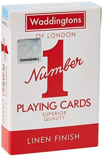 Oryginalny numer 1 czerwone i niebieskie karty do gry.