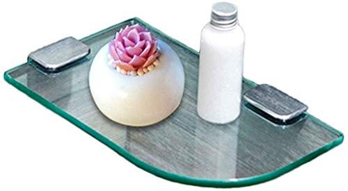 Badkamerrekken hangkommen voor het huishouden keukenrekken enkele glazen scheidingswanden van roestvrij staal, gemakkelijk te reinigen (kleur: zilver, grootte: 25 * 15 cm) 25*15cm zilver