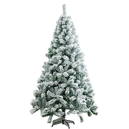 FHTD - Albero di Natale artificiale con neve bianca, albero di Natale naturale e realistico, per decorazioni di casa e feste, 1,2 m