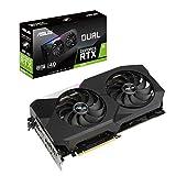 Asus DUAL-RTX3070-8G - Tarjeta gráfica (NVIDIA GeForce RTX 3070, 8 GB GDDR 6, PCIe 4.0, HDMI 2.1, DisplayPort 1.4a, Ventiladores Axial-Tech, Dual BIOS, Placa Trasera de protección, GPU Tweak II)