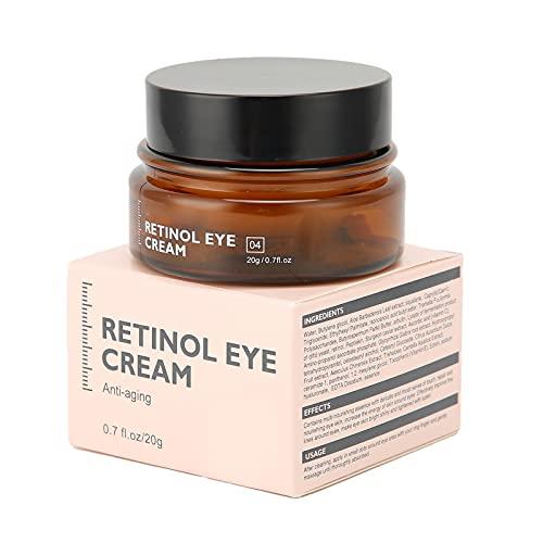 Crema de Ojos Hidratante Multifuncional Suave, Iluminador de la Piel, Estiramiento de Ojos, Crema de Ojos Suave 20g