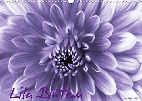 Lila Blüten (Wandkalender 2021 DIN A3...