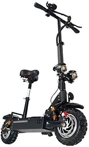 janobike Patinete Portátil Eléctrico Scooter Plegable con Manillar y Asiento Ajustable,3200W Velocidad máxima de 85 km/h,Scooter de conmutación de 11...