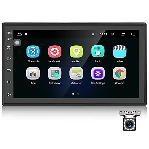 Podofo Autoradio GPS Navigation Car Radio Bluetooth/WiFi Car Stereo 2 DIN Android 7 Pollici 1080P HD Touch Screen MP5 Player + Radio FM + Rear View Fotocamera