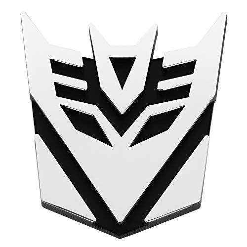 TRIXES Decepticon Logo Symbol Car Decal Sticker Badge – Easy Apply Self Adhesive 3D Emblem Accessory