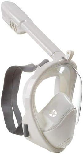 MHP Masques de plongée,Masque Snorkeling Plein Visage 180° Visible,Masque Complet de plongée à Sec Adulte plongée Lunettes de Natation Costume de plongée en apnée