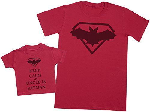 Keep Calm My Uncle is Batman - EIN Teil - Teil des Sets - Rot - 0-3 Monate - Baby/Kinder