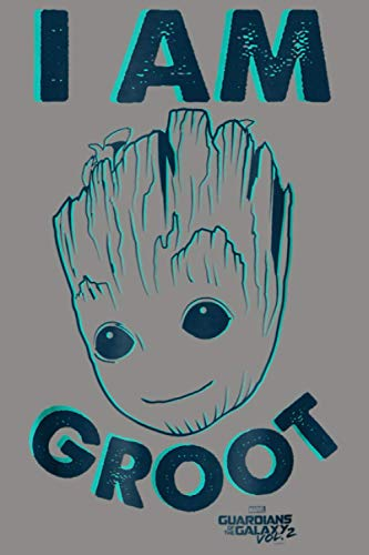 Marvel Guardians Vol 2 I Am Baby Groot Teal Graphic: Notebook Planner -6x9 inch Daily Planner Journal, To Do List Notebook, Daily Organizer, 114 Pages