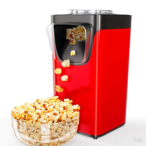 Gadgy Popcornmaschine Für Zuhause   Süßes Und Salziges Popcorn   Heissluft Popkornautomaten   Fertig in 3 Minuten   60 Gramm Popcorn   Inklusive Messlöffel