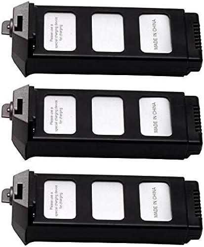 Sairis 3pcs 7.4V 1800mAh Li-Po Batterie avec Chargeur 4 en 1 pour MJX Bugs 5W B5W Drone Quadricoptère Aéronef UAV Parcravate Accessoires (gris)