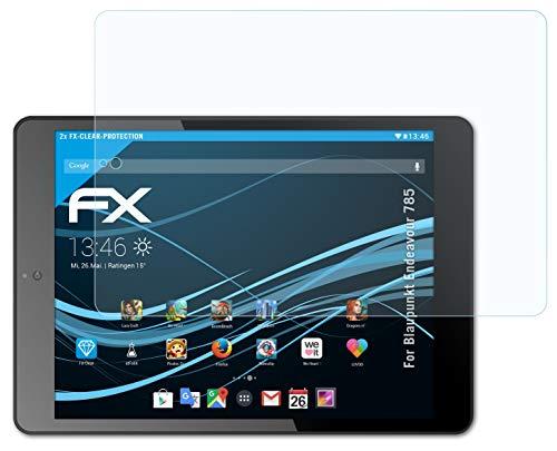 atFolix Schutzfolie kompatibel mit Blaupunkt Endeavour 785 Folie, ultraklare FX Bildschirmschutzfolie (2X)