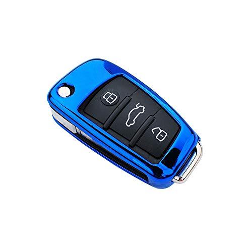 PIANYIHUO Caso claveFunda para Llave de Coche para Audi C6 A7 A8...