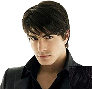 Men's Black Short Straight Wig