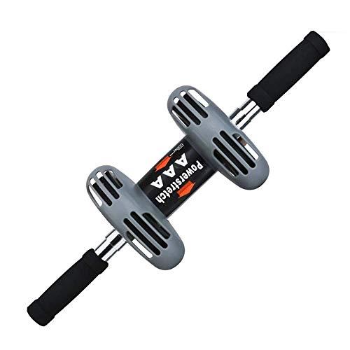 Jsmhh Core & Bauchtrainer Premium-Ab Roller Rad + Kniepolster for Bauch-Übung - Dual-Rad-Fitnessgeräte - ideal for Bauch Stärkung und Toning - sehr stabil und Rolls sehr glatt sit up trainingsgert